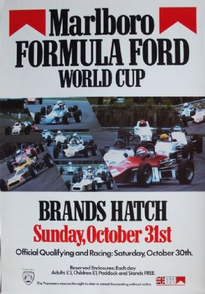 BRANDS HATCH 1982 FORMULA FORD WORLD CUP  (FESTOIVAL) original poster. 28X19""